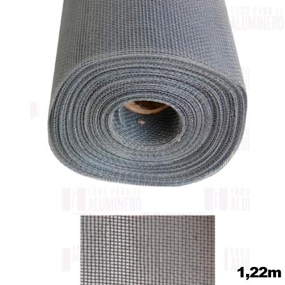 Malla mosquitero negro fibra de vidrio 1 22 metros en for Malla de fibra de vidrio